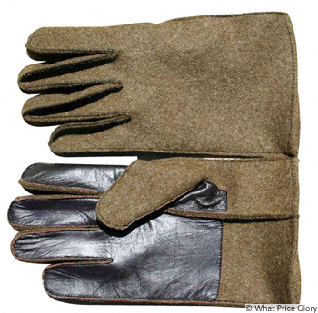 What Price Glory - US GI Gloves, Wool with Leather Palms