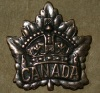 Canadian WWI General Service Cap and Collar Badge Set