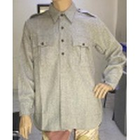Indian Army Gray Wool Officer style Collared Shirts