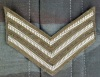 UK Chevrons on khaki wool