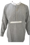 UK Gray Wool Greyback Collarless Undershirt (New Run)