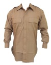 US Army Officer Light Weight Khaki Poplin Shirts (Improved Run)